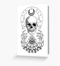 Power Skull Mandala Greeting Card