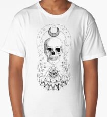 Power Skull Mandala Long T-Shirt
