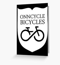 Onncycle Bicycles Greeting Card