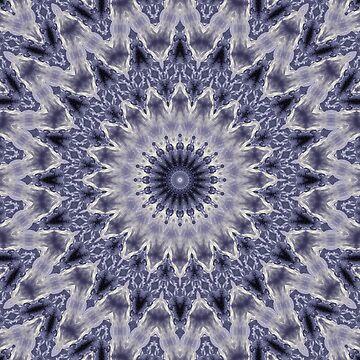 Purple gray mandala  by fuzzyfox