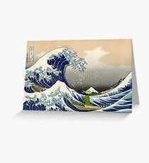 The Great Wave of Tyranitar Greeting Card