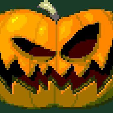 Pixel Pumpkin by BlazeHedgehog