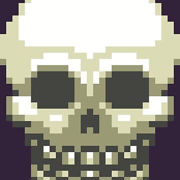 Pixel Skull by BlazeHedgehog