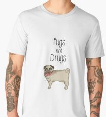 Pugs Not Drugs  Men's Premium T-Shirt