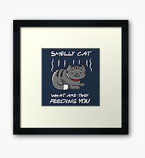 Cute Smelly Cat Framed Print