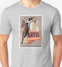 1947 Artis Zoo Amsterdam Penguins Poster T-Shirt