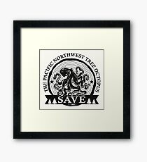 Save the Pacific Northwest Tree Octopus Framed Print