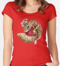 Lizard loves fruit Women's Fitted Scoop T-Shirt