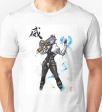 Aria from Mass Effect sumi and watercolor style T-Shirt