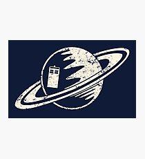 Tardis and Saturn Photographic Print