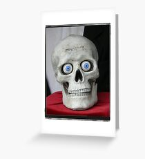New eyes for an old skull... Greeting Card