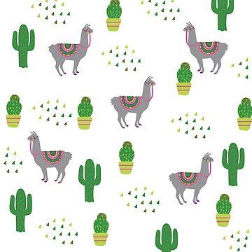 Llama Background by estybain