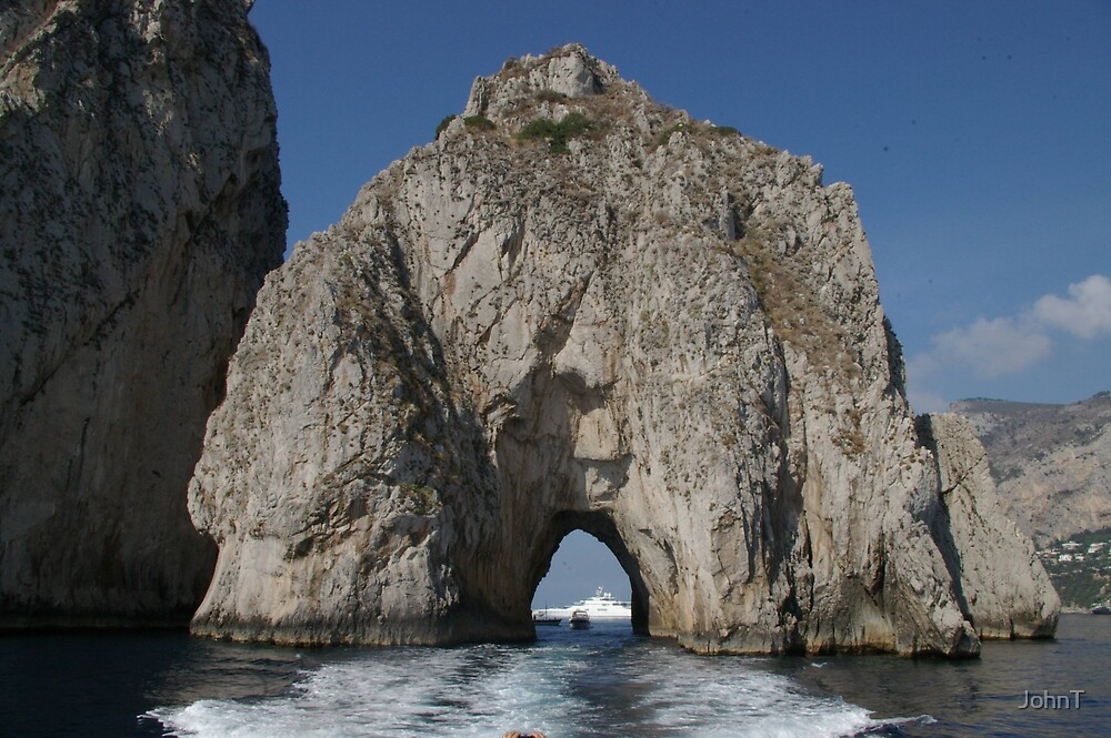 Rock arch of the Isle of Capri 2 by JohnT