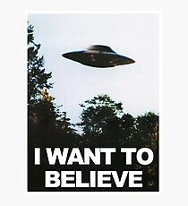 The X Files I Want to Believe  Photographic Print