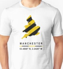 Manchester GPS Bee Map T-Shirt