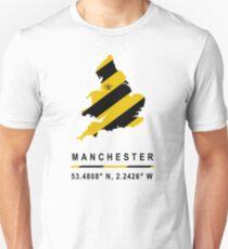 Manchester GPS Bee Map Unisex T-Shirt