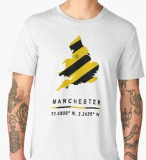 Manchester GPS Bee Map Men's Premium T-Shirt