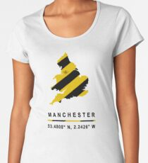 Manchester GPS Bee Map Women's Premium T-Shirt