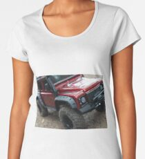 red off-road vehicle  Women's Premium T-Shirt