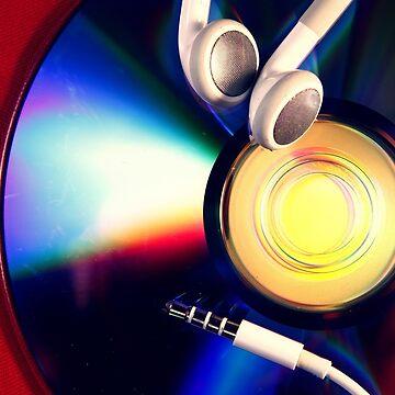Cd and earphones by junpinzon