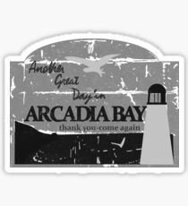 Arcadia bay B&W Sticker