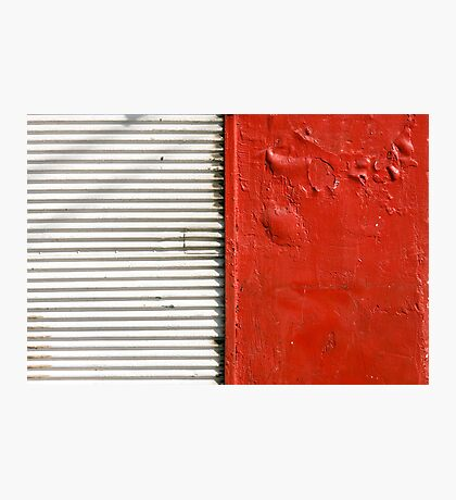red and white (closed store) Photographic Print