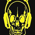 dj headphone audio equalizer death head by Julianco