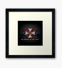 Umbrella Corporation Logo Framed Print
