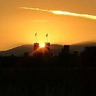 Sunset over Caernarfon Castle by AnnDixon