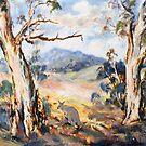 Wallaby in rural Australian landscape by Ryn  Shell
