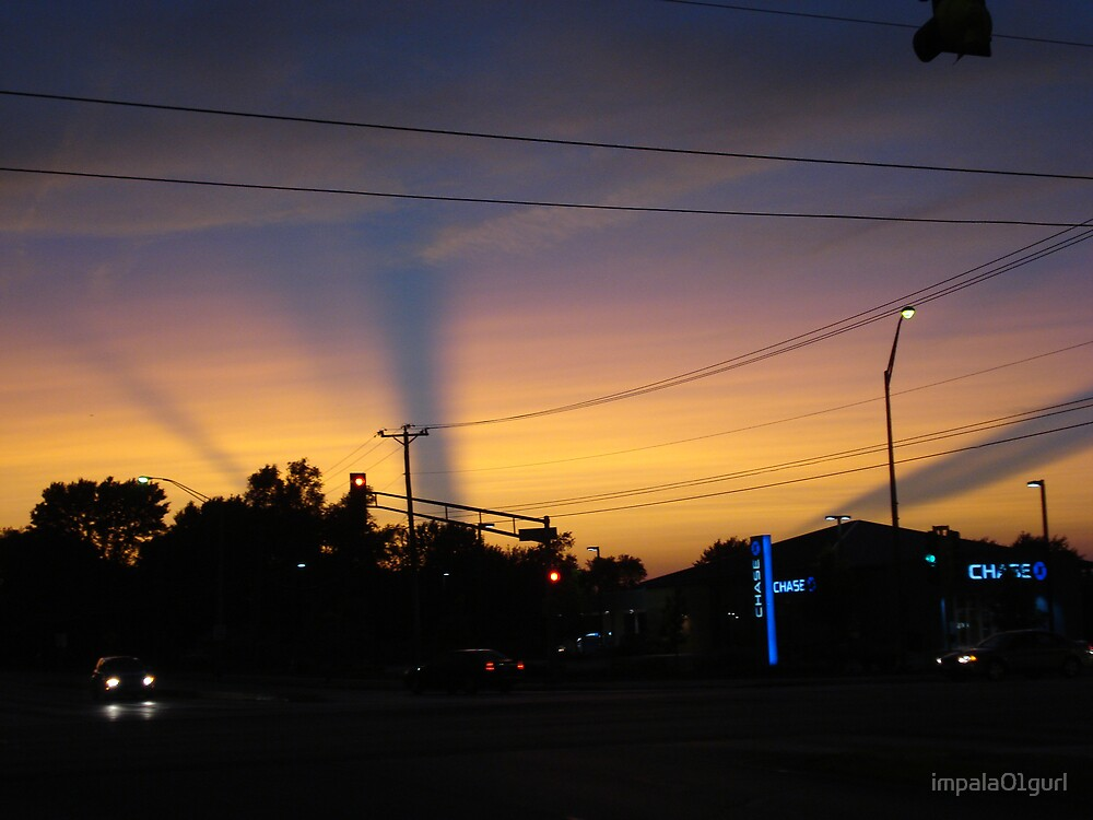 Streaks Across Sky During Sunset by impala01gurl