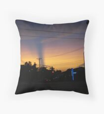 Streaks Across Sky During Sunset Throw Pillow