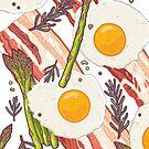 Breakfast pattern by smalldrawing