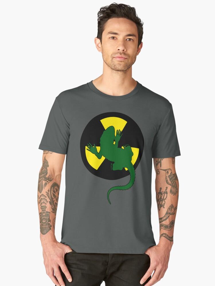 Radioactive Gecko - Funny Design Men's Premium T-Shirt Front