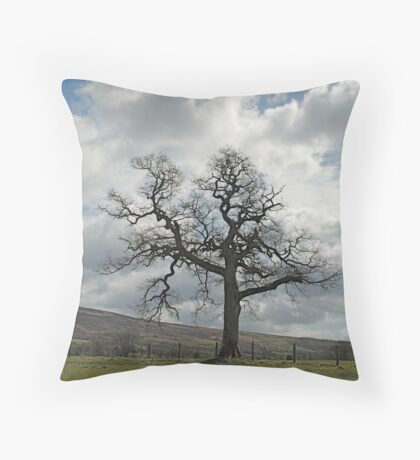 A Tree in Farndale Throw Pillow