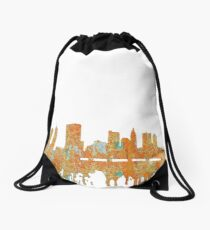 Columbus, Ohio Skyline - Rust Drawstring Bag