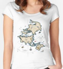 Mercator Map Women's Fitted Scoop T-Shirt