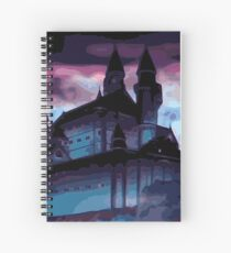 Castle in the Night Spiral Notebook
