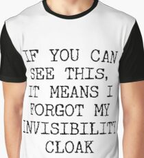 Invisibility Graphic T-Shirt