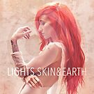 LIGHTS ‎– Skin & Earth pop music sleeve art from the usa by deadadds
