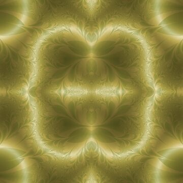 Groovy Green and Gold Paisley by karlajkitty