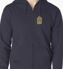US Army Command Sergeant Major Zipped Hoodie