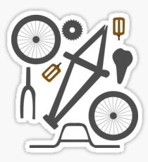 BIKE GEAR TSHIRT Sticker