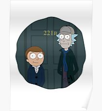 Rick and Morty - Sherlock Crossover Poster