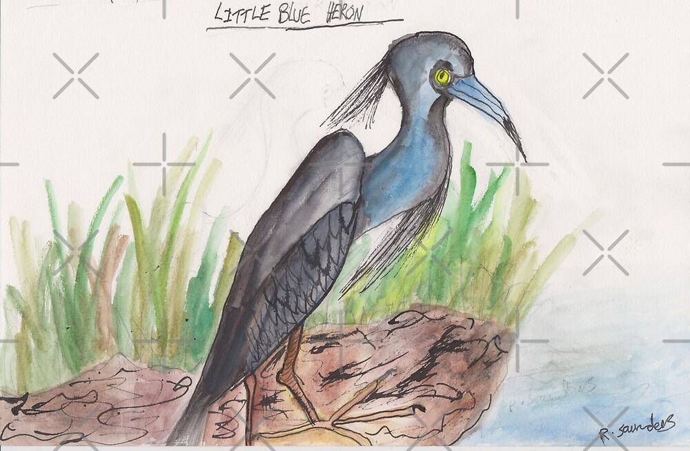 Blue Heron by ArtistRebeccaLS