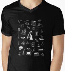 Magic Stuff Black T-Shirt mit V-Ausschnitt