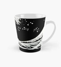 Black and White Great Wave Tall Mug