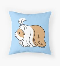 Guinea-pig Tail - long haired cavy Throw Pillow