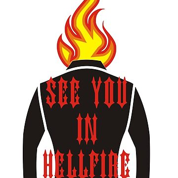 SEE YOU  HELLFIRE TSHIRT by calvindaws