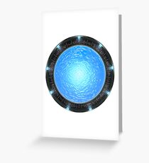 Stargate Atlantis Clock Greeting Card